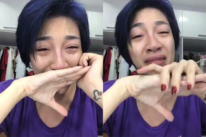 Sau livestream khóc nức nở cầu cứu khán giả, Pha Lê đăng Facebook tiếp tục cầu xin kẻ cướp giật