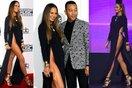 Vợ John Legend gây nhức mắt với chiếc váy xẻ cao không tưởng