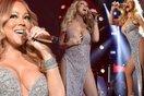 Mariah Carey lộ vùng kín vì váy xẻ quá cao khi dạo phố