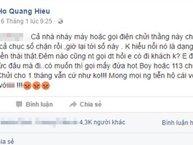 """Hồ Quang Hiếu kêu cứu vì bị gạ """"đi khách"""" hằng đêm"""