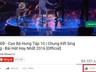 Không phục chiến thắng của Cao Bá Hưng, cư dân mạng đua nhau dislike video trên Youtube