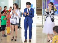 """""""Soái ca"""" Isaac hộ tống 2 người đẹp ghi hình Vietnam Idol Kids tại Sài Gòn"""