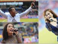 Khi sân bóng cũng trở thành sân khấu âm nhạc của sao Việt