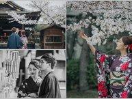 """Bảo Anh hạnh phúc """"tay trong tay"""" với bạn trai du ngoạn Nhật Bản"""