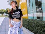 """Đinh Hương """"chất lừ"""" trong bộ ảnh street style đón đầu thời trang hè"""