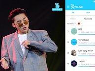 Vượt TWICE và T-ara, Sơn Tùng lọt top 5 BXH các kênh livestream được yêu thích nhất trên V Live