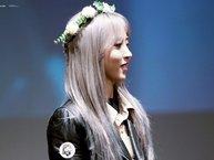 """Phì cười với biểu cảm của Moonbyul (MAMAMOO) """"cắn răng chịu đựng"""" đội vòng hoa để chiều fan"""