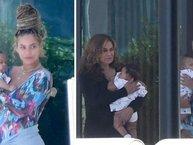 Lần đầu lộ diện ảnh cặp song sinh giấu kín bấy lâu nay của nhà Beyoncé