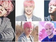 10 nam thần Kpop cực thu hút với mái tóc hồng 'chói lóa'
