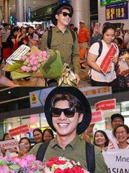 Ngày trở về từ MAMA 2016, Noo Phước Thịnh hạnh phúc trong vòng tay fan