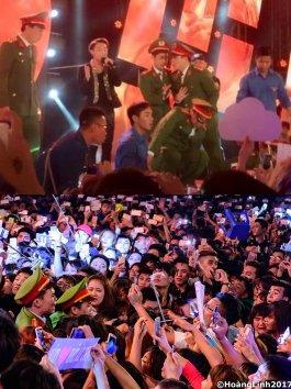 Khán giả chen lấn, ngất xỉu, Sơn Tùng buộc phải ngừng biểu diễn