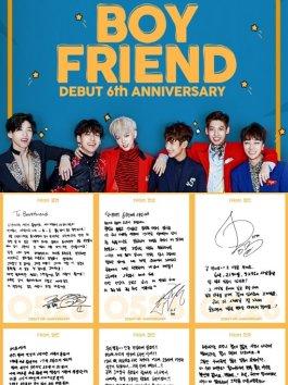 Boyfriend xúc động viết thư tay gửi fan mừng sinh nhật 6 tuổi