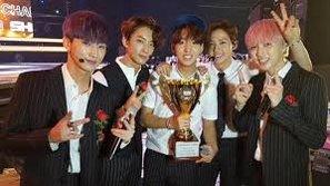 """B1A4 xuất sắc đánh bại big Bang và B2ST tại """"Show Champion"""""""