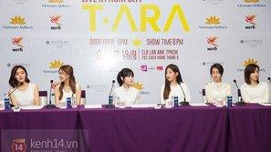 T-ara đẹp rạng rỡ trong buổi họp báo tại Việt Nam