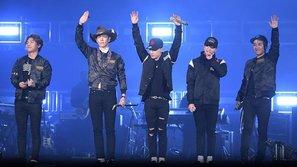 Big Bang dẫn đầu danh sách nhóm nhạc có nhiều buổi diễn nhất