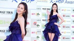 Gaon Chart Kpop Awards: Yura khoe ngực đầy, chân dài trên thảm đỏ