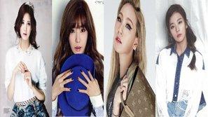 Seohyun, Tiffany, CL và Seulgi đọ sắc trên tạp chí