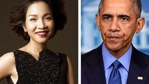 Nữ ca sỹ Mỹ Linh vinh dự hát Quốc ca trước Tổng thống Mỹ Barack Obama
