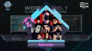 """M!Countdown 16/6: EXO giành cúp, """"đốt cháy"""" sân khấu với """"Monster"""""""