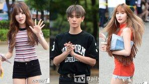 Dàn trai xinh gái đẹp idolgroup xúng xính trên đường đến Music Bank