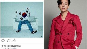 G-Dragon bị fan Nhật phản ứng dữ dội vì đăng hình ảnh cờ Hàn Quốc lên Instagram
