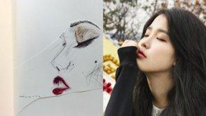 Bất ngờ trước tài năng hội họa chẳng kém gì họa sĩ của các sao Kpop