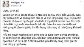 Dàn sao Việt phát động hành trình cứu trợ đồng bào miền Trung