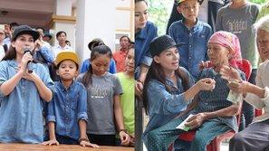 Hồ Văn Cường cùng mẹ nuôi Phi Nhung đi thiện nguyện tại miền Trung