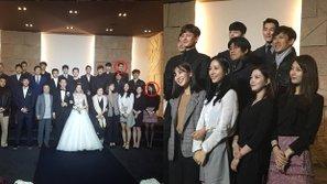 Suzy (missA) tái ngộ Kim Woo Bin trong đám cưới của đồng nghiệp