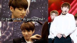 """Đây là phản ứng hài hước của Jungkook (BTS) khi được gọi """"Oppa""""!"""