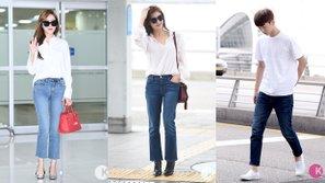Áo trắng + quần Jeans: Phong cách chưa bao giờ lỗi mốt của sao Hàn