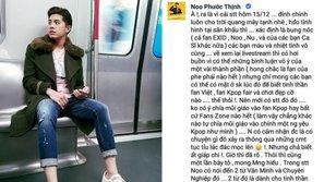 Noo Phước Thịnh lên tiếng sau ồn ào với fan EXID