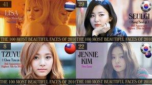 Black Pink, TWICE vượt mặt loạt mỹ nhân Hàn trong Top 100 gương mặt đẹp nhất thế giới 2016