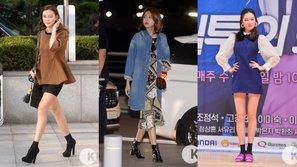 Học cách sao Hàn chọn giày để diện trong ngày trở gió