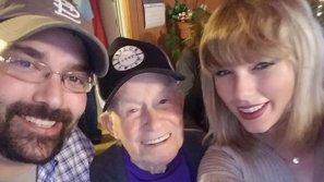 Taylor Swift bất ngờ ghé thăm nhà cựu binh 96 tuổi