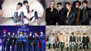 Tổng kết bảng xếp hạng fan cafe các nhóm nam Kpop trong năm 2016