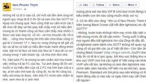 """Fan GOT7 và Noo Phước Thịnh chính thức lên tiếng: Không hề có """"Black Ocean"""" nào!"""