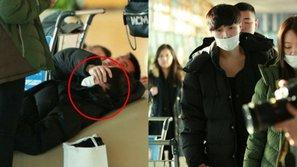 Lay (EXO) lại khiến fan lo lắng vì xuất hiện với dáng vẻ mệt mỏi tại sân bay