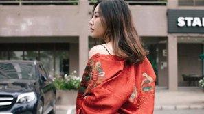 Ngắm streetstyle ngày Tết ấn tượng của Văn Mai Hương