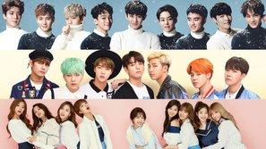 EXO, BTS, Twice chia sẻ về dự định trong năm 2017