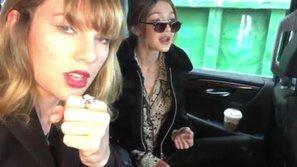 """Taylor Swift và Gigi Hadid lipsync """"cực ngọt"""" khi lần đầu nghe OST """"50 Sắc Thái"""""""