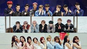 Giá trị thương mại của EXO, BTS và TWICE lên tới gần 200 tỉ đồng!