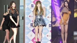 """7 bức ảnh chứng minh những chiếc váy của idol nữ Kpop đang ngày một ngắn đến """"đỏ mặt"""""""