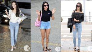 Khi quần denim bạc màu đang trở thành sự lựa chọn của loạt sao nữ Kpop
