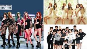 EXID, Apink và Seventeen dẫn đầu dàn sao Hàn