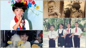 Loạt ảnh tuổi thơ cực dễ thương của sao Việt