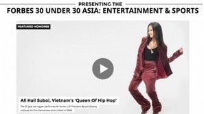 Suboi sánh ngang cùng Jessica, Kris trong top người trẻ châu Á thành công dưới 30 tuổi