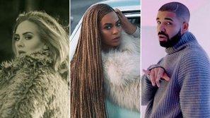 Nghệ sĩ nào sở hữu album, single bán chạy nhất năm 2016?