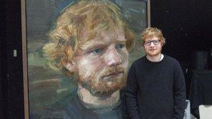 """Chân dung của Ed Sheeran được fan """"gán ghép"""" với hình tự họa của Van Gogh và đây là kết quả!"""