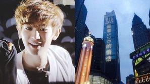 Fan thú nhận tình yêu với Chanyeol (EXO) trên tòa nhà chọc trời tại Trung Quốc